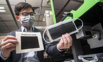 CityU researchers develop anti-bacterial graphene face masks