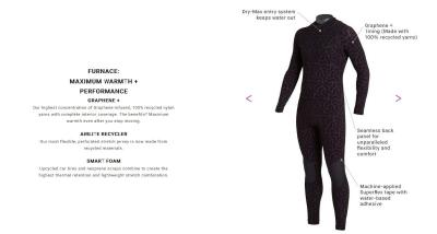 Billabong graphene-enhanced wetsuits are now shipping