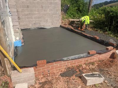 Versarien lays graphene-enhanced concrete in a residential setting